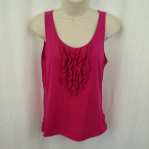 Lauren Ralph Lauren womens top Size M Pink Ruffles